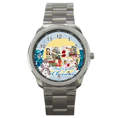 Christmas By Merry Christmas   Sport Metal Watch   M7ddkytoxsti   Www Artscow Com Front