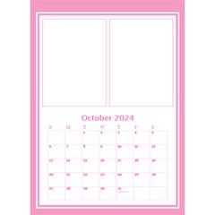 Pink Princess Desktop Calendar By Deborah   Desktop Calendar 6  X 8 5    6rpudw2xztnp   Www Artscow Com Oct 2017
