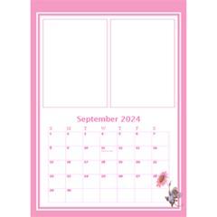 Pink Princess Desktop Calendar By Deborah   Desktop Calendar 6  X 8 5    6rpudw2xztnp   Www Artscow Com Sep 2017