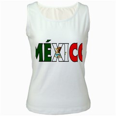 Mexico (n) Womens  Tank Top (white) by worldbanners