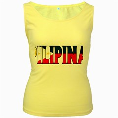 Phillipines2 Womens  Tank Top (Yellow) by worldbanners