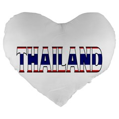 Thailand 19  Premium Heart Shape Cushion by worldbanners