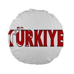 Turkey 15  Premium Round Cushion  by worldbanners
