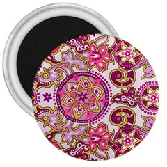 Floral Fantasy 3  Button Magnet by Contest1702305