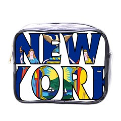 New York Mini Travel Toiletry Bag (one Side) by worldbanners