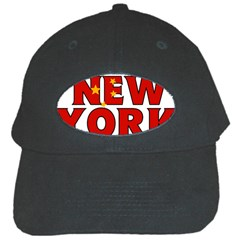 New York China Black Baseball Cap by worldbanners