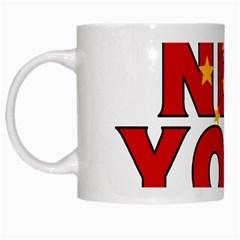 New York China White Coffee Mug