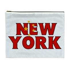 New York China Cosmetic Bag (XL) by worldbanners