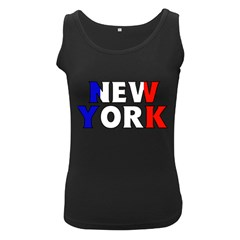 New York France Womens  Tank Top (black) by worldbanners