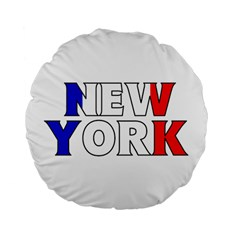 New York France 15  Premium Round Cushion  by worldbanners