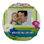 kids, father, family, fun - Large 18  Premium Round Cushion