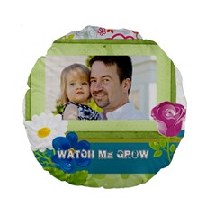 Kids, Father, Family, Fun By Jo Jo   Standard 15  Premium Round Cushion    Ddkta9wdiy6j   Www Artscow Com Front