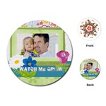 kids, father, family, fun - Playing Cards (Round)
