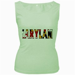 Maryland Womens  Tank Top (green) by worldbanners