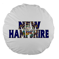 New Hampshire 18  Premium Round Cushion  by worldbanners
