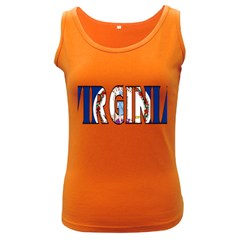 Virginia Womens  Tank Top (dark Colored) by worldbanners