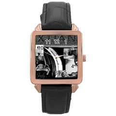 Xtianilogo Rose Gold Leather Watch  by StephentKent