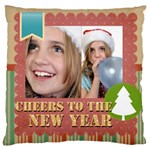 new year - Large Cushion Case (Two Sides)