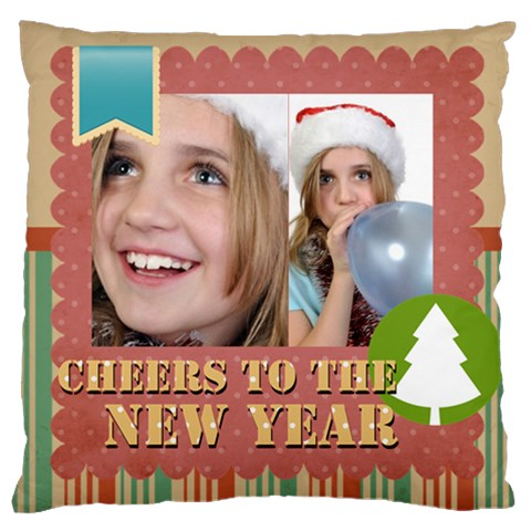 New Year By New Year   Large Cushion Case (one Side)   2t20s49150px   Www Artscow Com Front