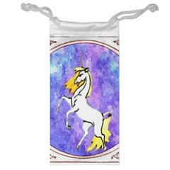 Framed Unicorn Jewelry Bag by mysticalimages
