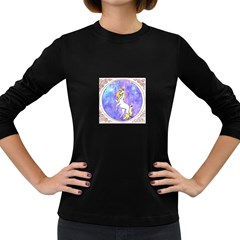 Framed Unicorn Womens' Long Sleeve T Shirt (dark Colored) by mysticalimages
