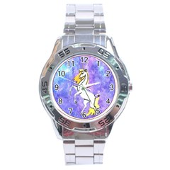 Framed Unicorn Stainless Steel Watch (men s) by mysticalimages