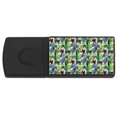 The Harmless Charms Of Halloween  4GB USB Flash Drive (Rectangle) by EndlessVintage