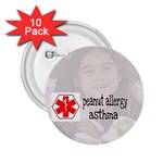 Allergy alert  button - 2.25  Button (10 pack)