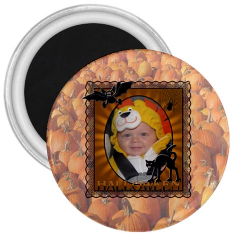 Halloween 3  Magnet By Lil    3  Magnet   Bxq09997yrvl   Www Artscow Com Front