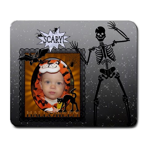 Scary Halloween Large Mousepad By Lil    Large Mousepad   7gipeh62f5md   Www Artscow Com Front