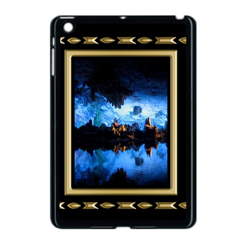 Gold And Black Apple Ipad Mini Case (black) By Deborah   Apple Ipad Mini Case (black)   76om08hivio7   Www Artscow Com Front