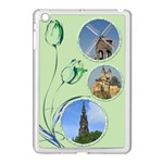 Little green tulip Apple iPad Mini Case (white)