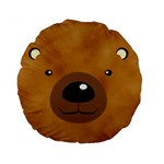bear - Standard 15  Premium Round Cushion