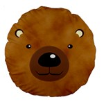 bear - Large 18  Premium Round Cushion