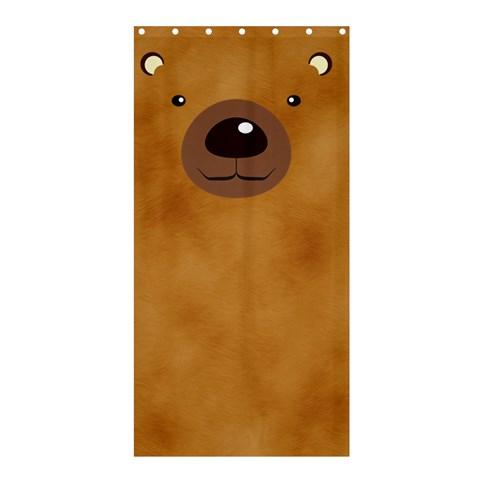 Bear By Divad Brown   Shower Curtain 36  X 72  (stall)   9gyokp4f6hvh   Www Artscow Com 33.26 x66.24 Curtain