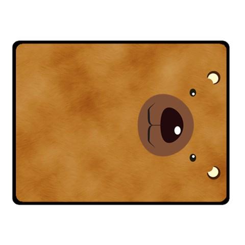 Bear By Divad Brown   Fleece Blanket (small)   Yvkzklfthlc1   Www Artscow Com 50 x40 Blanket Front