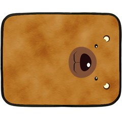 Bear By Divad Brown   Double Sided Fleece Blanket (mini)   Ok2ozcqgaf8s   Www Artscow Com 35 x27 Blanket Back