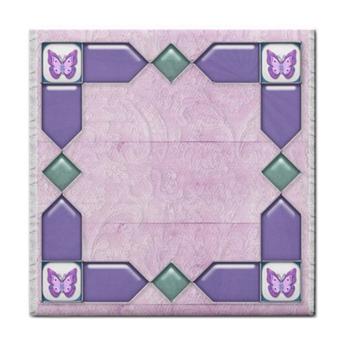 Lace And Butterfly Tile By Claire Mcallen   Tile Coaster   1t9zioxe5zu6   Www Artscow Com Front