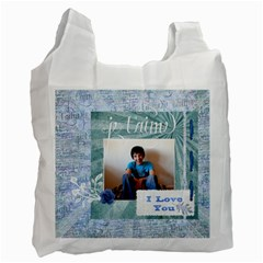 I Love You Bag By Claire Mcallen   Recycle Bag (two Side)   N0gn2q53vipq   Www Artscow Com Front