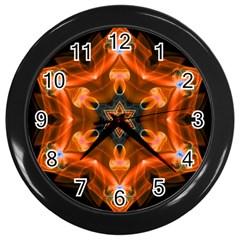 Smoke Art 1 Wall Clock (black) by smokeart