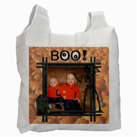Halloween Treat Bag By Lil    Recycle Bag (one Side)   2x7vs2jeumyv   Www Artscow Com Front