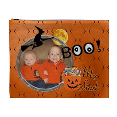 Spooky Halloween Xl Cosmetic Bag By Lil    Cosmetic Bag (xl)   94faxqhtkw02   Www Artscow Com Front