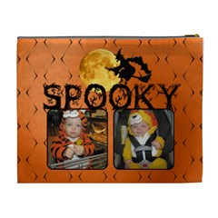 Spooky Halloween Xl Cosmetic Bag By Lil    Cosmetic Bag (xl)   94faxqhtkw02   Www Artscow Com Back