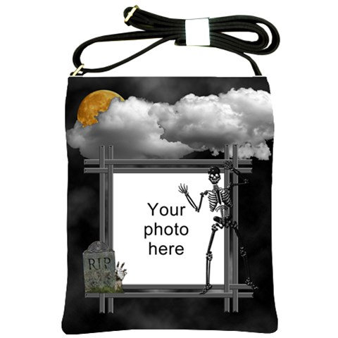 Scary Halloween Shoulder Sling Bag By Lil    Shoulder Sling Bag   L58gnv68iap3   Www Artscow Com Front