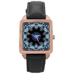 Smoke Art 2 Rose Gold Leather Watch