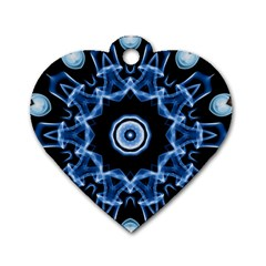 Abstract Smoke  (3) Dog Tag Heart (two Sided) by smokeart