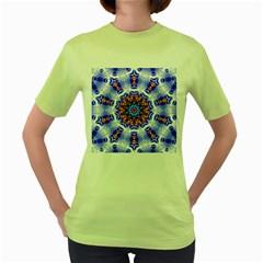 Smoke Art  (6) Womens  T Shirt (green) by smokeart