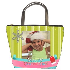 Christmas Bag Mariah By Meredith Hazel   Bucket Bag   E6se8an5oz2k   Www Artscow Com Front