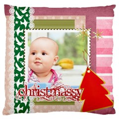 Christmas By Clince   Large Cushion Case (two Sides)   5czhrh3nqd64   Www Artscow Com Back