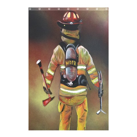 Firefighter Curtain By William   Shower Curtain 48  X 72  (small)   3m6tyz4fho4f   Www Artscow Com 48 x72 Curtain